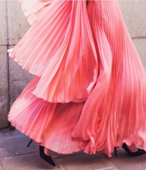Pretty Pink Pleats