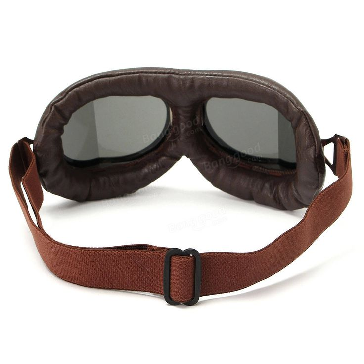 Vintage Pilot Helmet Steampunk Copper Motorcycle Scooter Helmet Glasses Goggles Anti UV