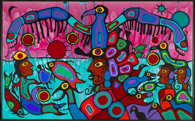Norval Morisseau - one of Canada's greatest Aboriginal painters
