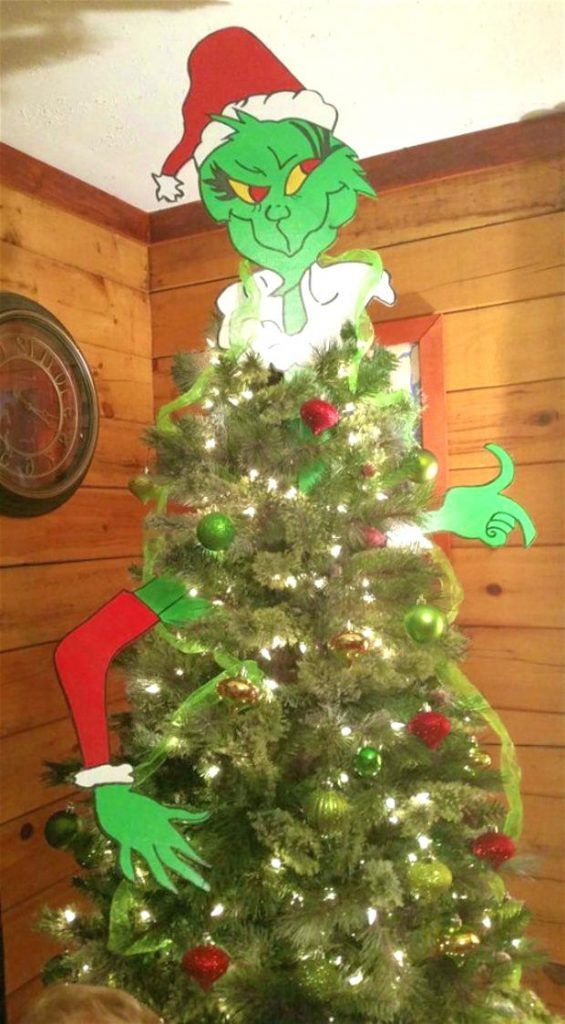 How To Make A Grinch Christmas Tree 12 Diy Decoration Ideas Guide Patterns Grinch Christmas Tree Topper Grinch Christmas Tree Christmas Tree Decorations Diy