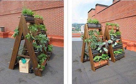 Mesas de cultivo vertical. Para os espazos mais pequenos