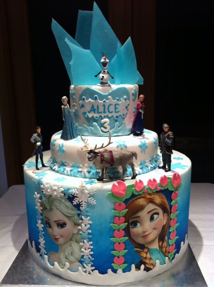 Frozen cake by ChiRy's cakes #Frozen #torta #cake #cakedesign #chiryscakes #fondant #disney #elsa #anna #olaf #sven #birthday #compleanno