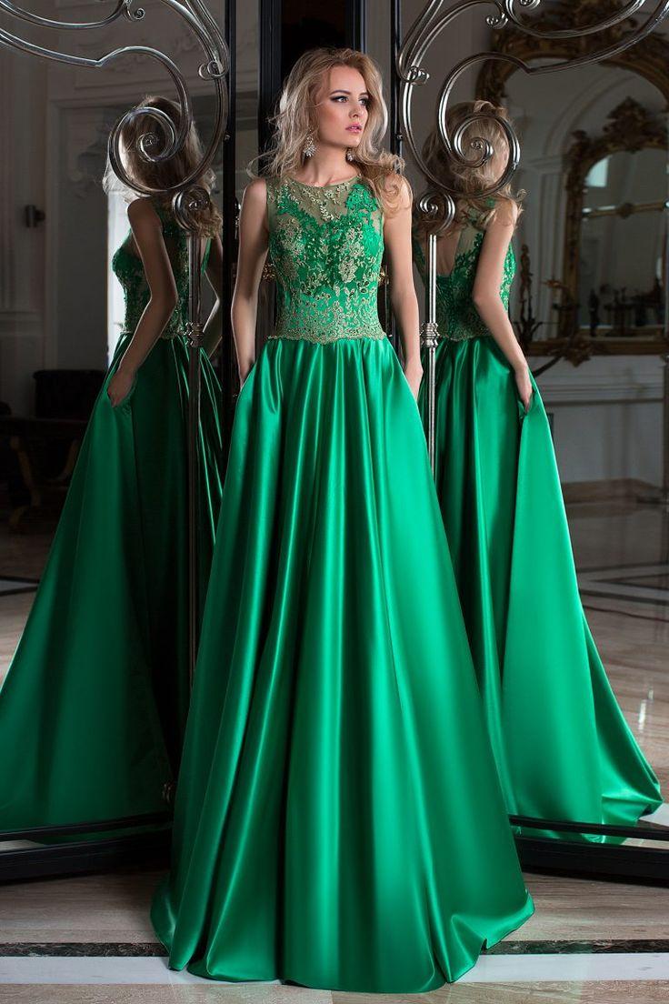 Robe de soiree vert amande