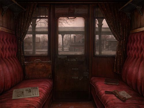 Riding in comfort; train car by Ilya Zonov  http://doctormonocle.com/post/31596945923/riding-in-comfort-train-car-by-ilya-zonov