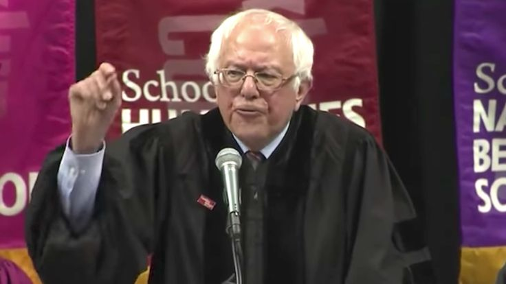 Bernie Sanders gave a very depressing, low energy commencement speech