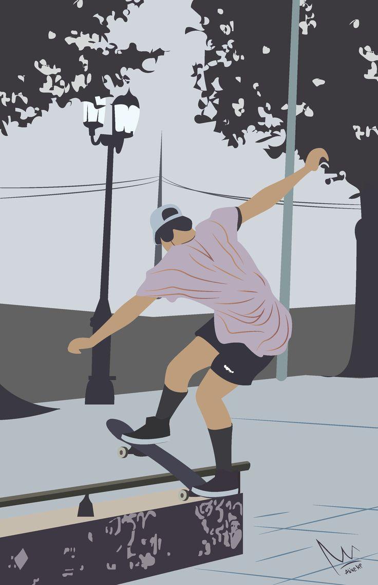 #Skateboarding #vector #skater