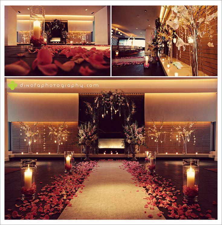 Candlelight Wedding Ceremony: 24 Best Rose Petal Aisle Designs: Wedding Images On