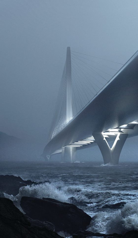Zaha Hadid Architects Win Danjiang Bridge Competition in Taiwan,© Danjiang Bridge by Zaha Hadid Architects, render by MIR