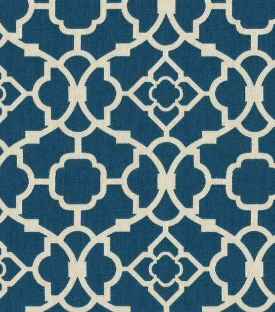 Waverly Upholstery Fabric-Lovely Lattice Lapis