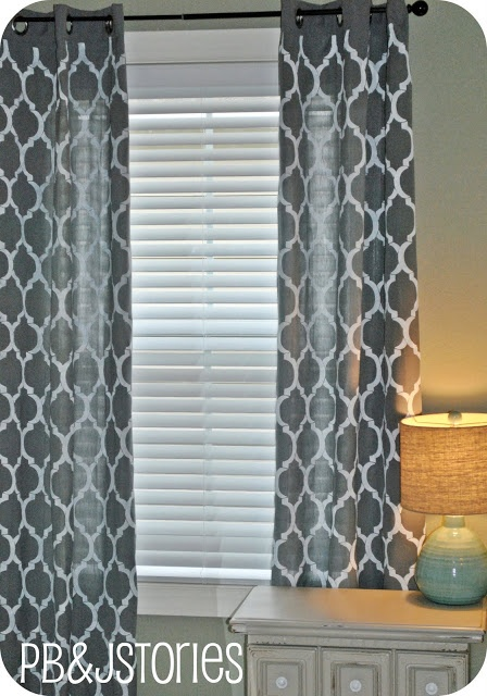 Cortinas De Baño Rayadas:DIY Painted Curtains