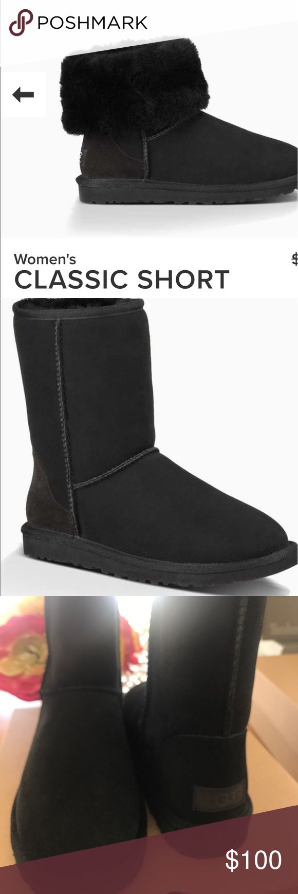 Ugg Classic short II black new Authentic 7 Ugg Classic short II black new Authentic 7 UGG Shoes Ankle Boots & Booties