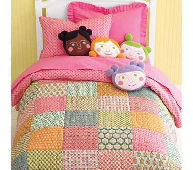kids 39 bedding girls 39 indian print themed patchwork quilt land of nod priti patchwork quilt. Black Bedroom Furniture Sets. Home Design Ideas