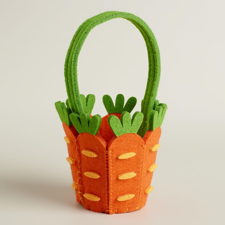 Mini Carrot Felt Easter Basket