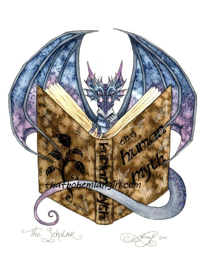 Library dragon for the library! http://thatbohemiangirl.com/products/amy-brown-the-scholar-dragon-print