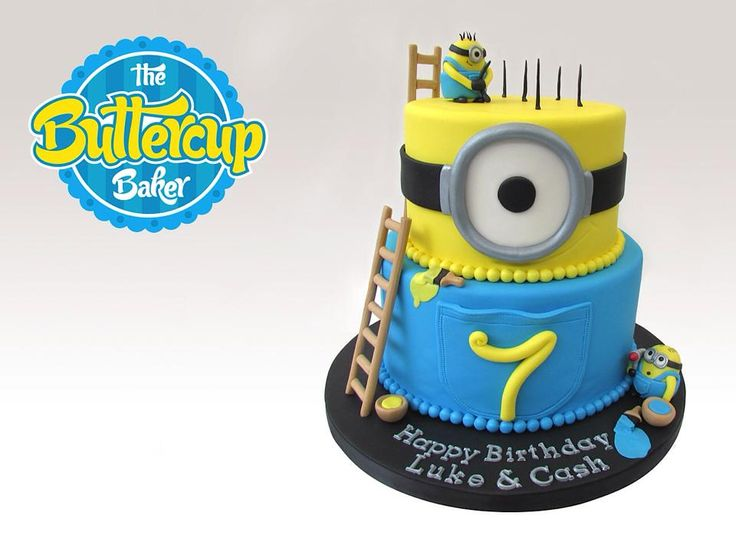 Minion Birthday Cake by Buttercup Bakery, San Jose, California, USA.  You'll find this Cake Appreciation Society Member in our Directory at www.cakeappreciationsociety.com