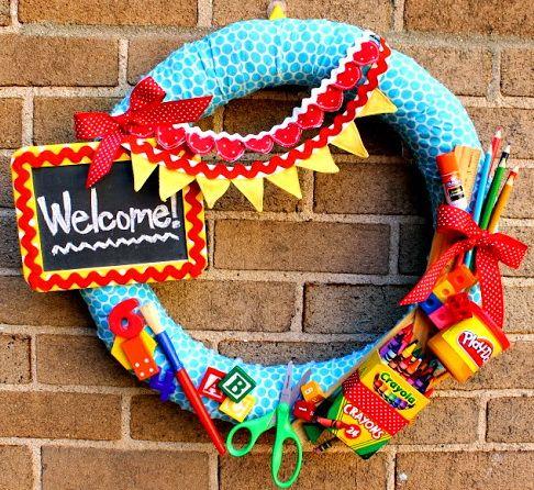 Back to School DIY Wreaths