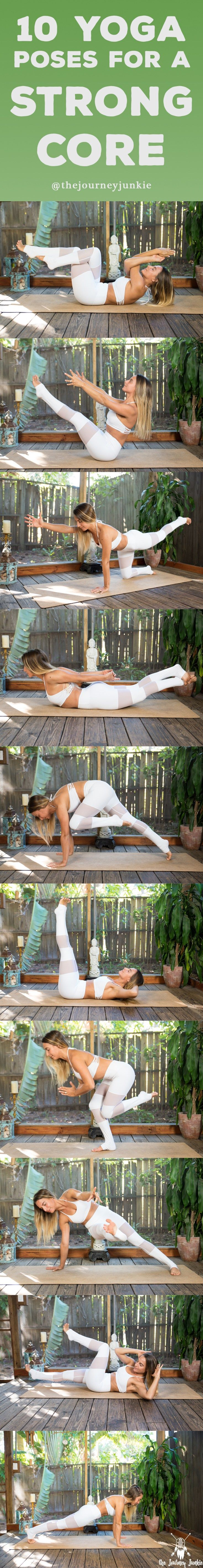 10 Poses for a Strong & Powerful Core - Pin now, work on your core strength now!