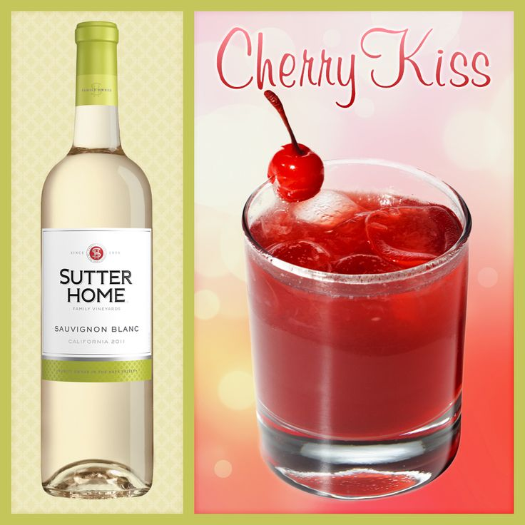 Our new favorite wine cocktail the cherry kiss wine for Cocktail recipes with white wine