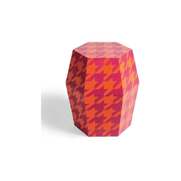 Grandin Road Houndstooth Garden Stool - Red/Orange (6.575 RUB) found on Polyvore featuring home, outdoors, patio furniture, outdoor stools, orange patio furniture, orange outdoor furniture, red outdoor furniture, outdoor furniture and outdoors patio furniture
