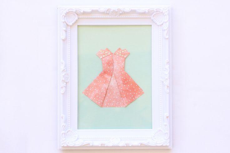 Origami Short Dress - Peachy spots — Bubba&Beyond