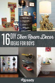 16 Easy DIY Teen Room Decor Ideas for Boys by DIY Ready at http://diyready.com/easy-diy-teen-room-decor-ideas-for-boys/