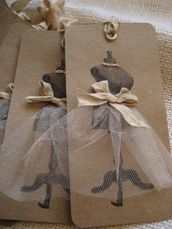 Handmade gift tags. Love this!