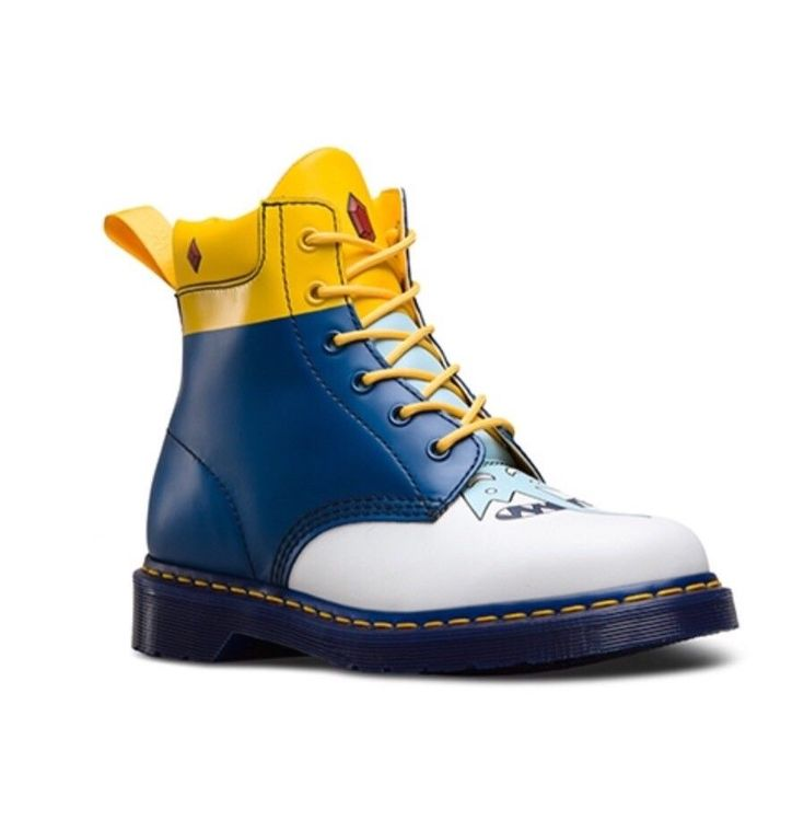 NEW Doc Martens X Adventure Time 939 Ice King 6-Eye Leather Boots Size M 7 W 8 #DocMartens #HikingTrail