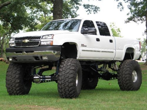 Lifted White Chevy Silverado Monster Truck In Used Lifted Chevy