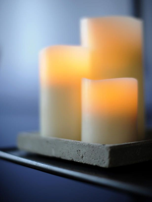 candels - most relaxing when enjoyed with a glass of wine