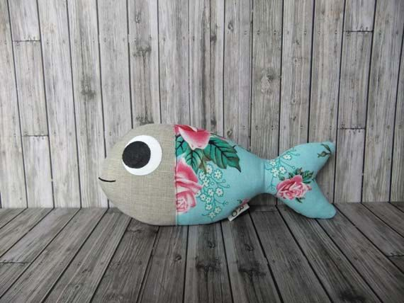 rose Guppy fish softie doll, could be a cute cat toy. No pattern but should be easy enough to create