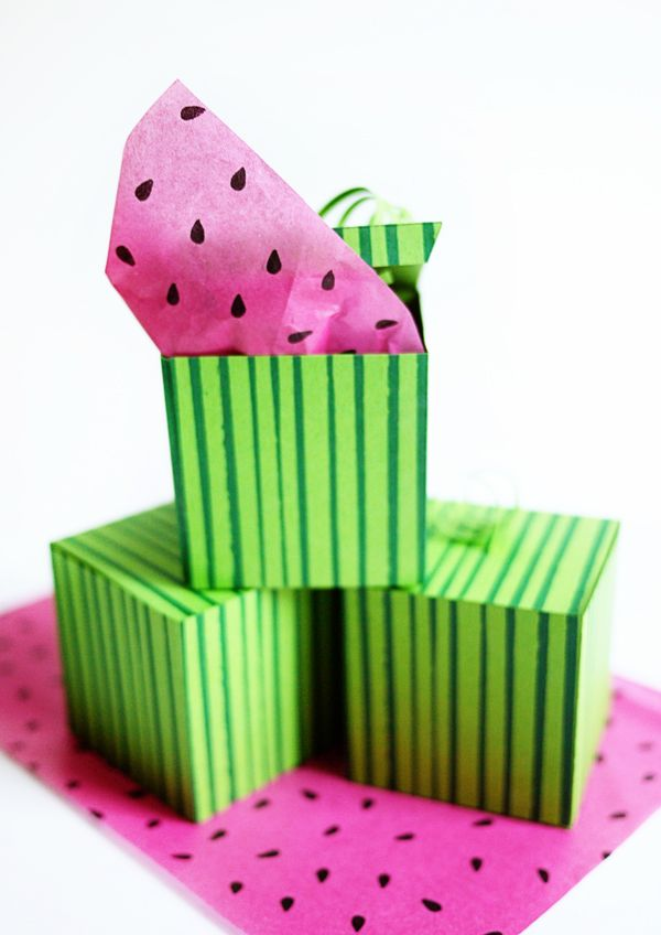 FREE Printable Watermelon Gift Box