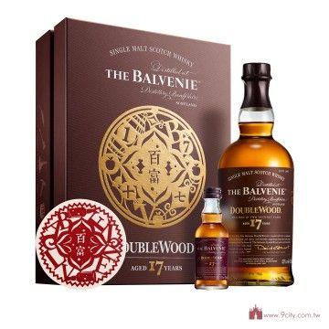 Balvenie 百富 【春節2016】蘇格蘭 百富 17年 雙桶 斯貝塞 單一純麥威士忌 禮盒:洋酒城洋酒量販連鎖