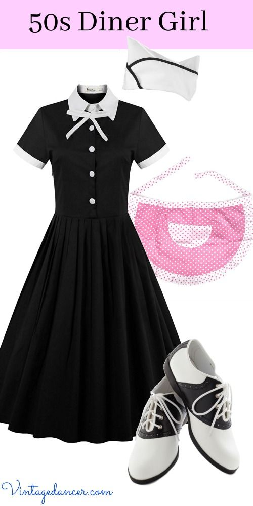fd355409e06c 50s Diner Girl   Car Hop  Waitress Outfit Costume