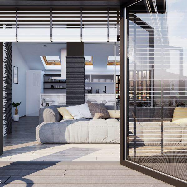 Идеен проект за реконструкция и модернизация на стара къща и превръщането на подпокривното и пространство в жилищен етаж.