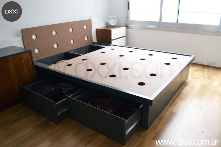 Buono base cama con cajones individual muebles el angel 1 990 00 en - Cama individual con cajones ...