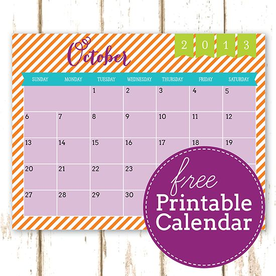 Free Printable October 2013 Calendar | Free Printables ♥ Imprimibles ...