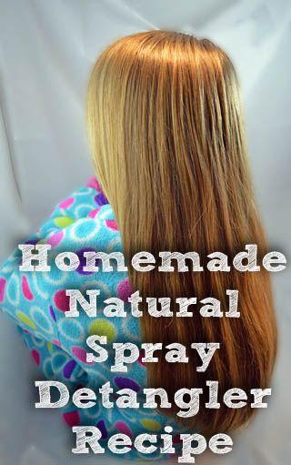 Homemade natural spray detangler recipe DIY Hair Detangling Spray