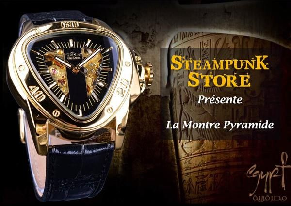 Montre Triangulaire Homme | Steampunk Store