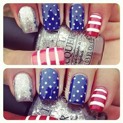 pinspired: america nails for memorial day! on my toes please!