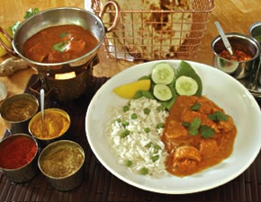 Chicken Tikka Masala recipe pack from Kashmir Restaurant in Boston. Comes with the dry goods and recipe.