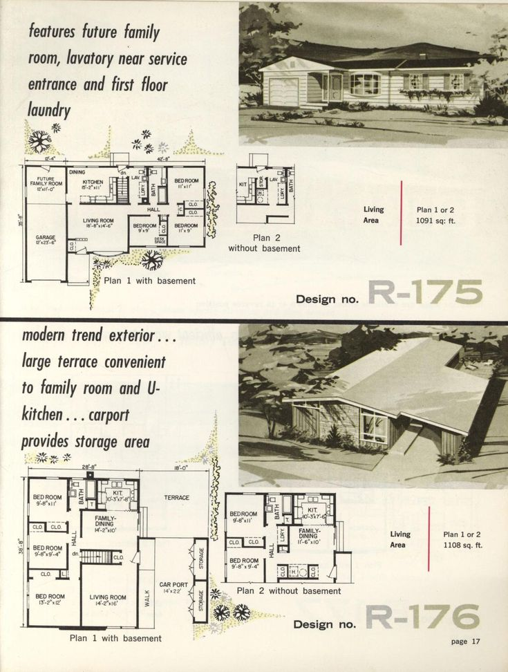 220 best images about vintage house plans 1960s on for 1960s ranch house floor plans