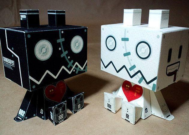 Mô hình giấy SOMEROBO Robots thiết kế bởi Shintama | Papercraft SOMEROBO Robots create by Shintama.