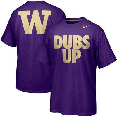 Nike Washington Huskies Basketball Dubs Up Campus Roar T-Shirt -Purple