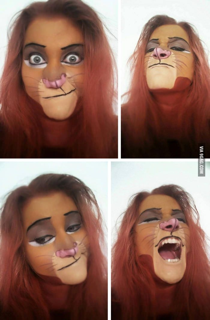 Simba Facepainting by Fanfakrul - 9GAG