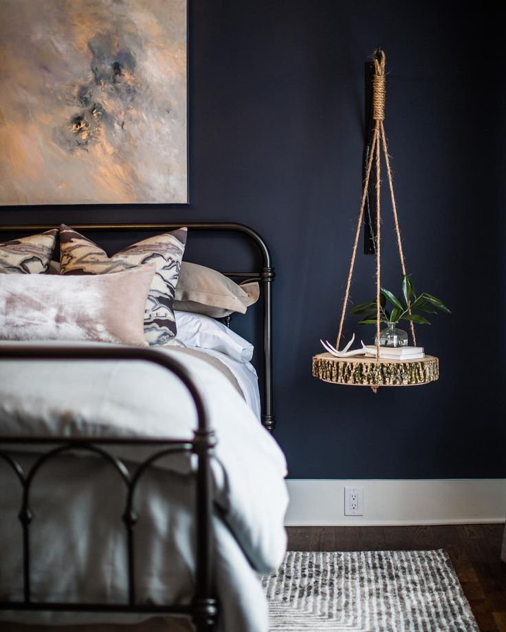 20 accent wall ideas youll surely wish to try this at home navy copper bedroomnavy