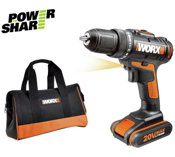 Buy Worx Li-On 1.5Ah Drill Driver 20V at Argos.co.uk - Your Online Shop for Drills, DIY power tools, DIY tools and power tools, Home and garden.