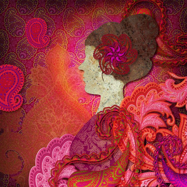 """""""the paisley garden"""" - gimp collage."""