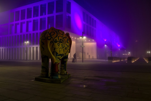 Hamm, Germany: Library, education center and decorative elephant.    more of my photography on Trans Pond http://trans-pond.blogspot.com