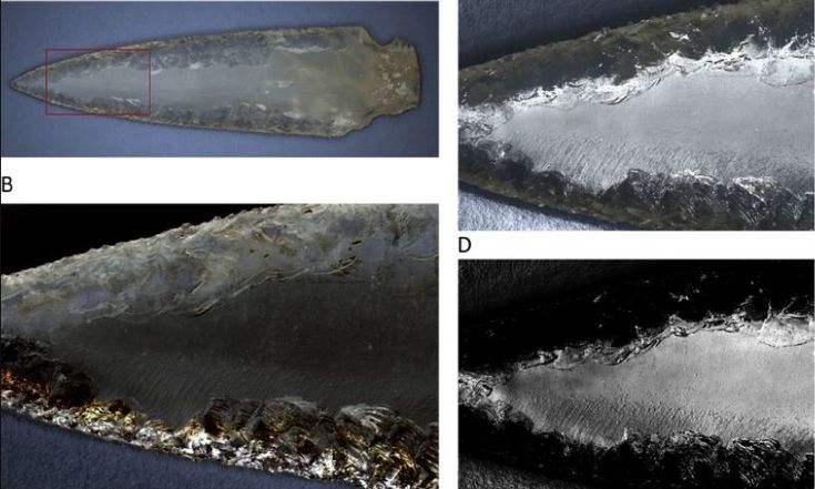 "In the megalithic tombs of southwestern Spain was discovered a ""remarkable set"" of 'crystal weapons' found..."
