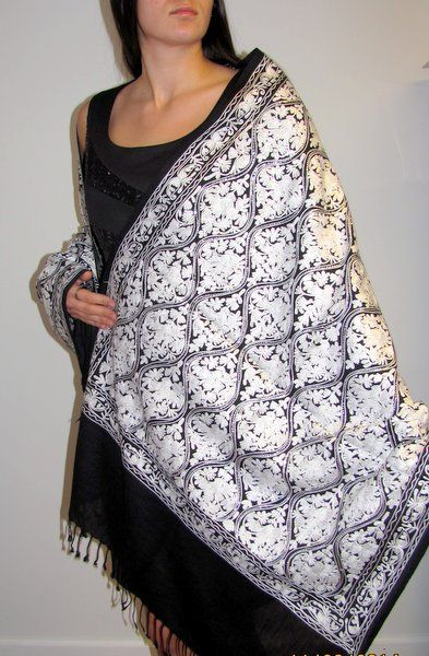 Embroidered shawls - women's evening dress shawls huge clearance sale. $74.99